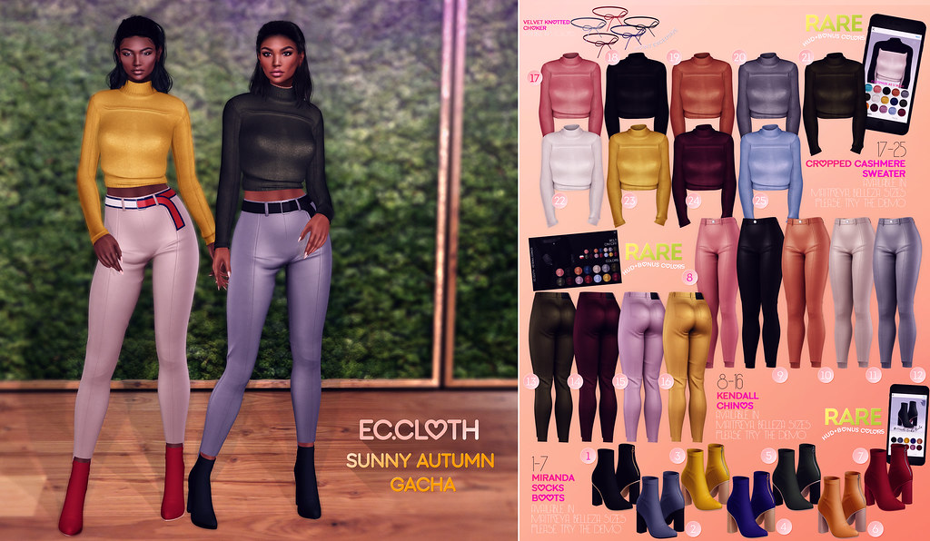 Ec.cloth  - Sunny Autumn Gacha for The Epiphany October - TeleportHub.com Live!