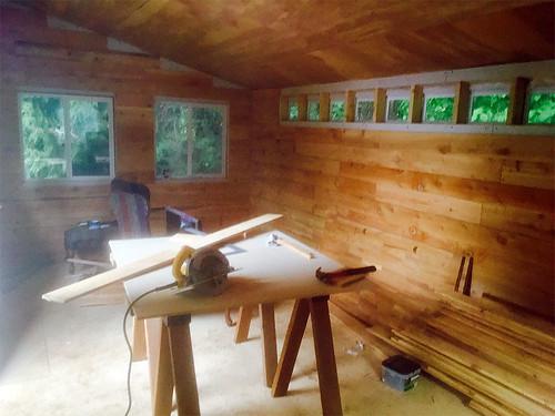 Tuff Shed cedar walls