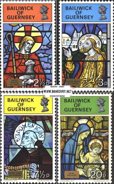 Známky Guernsey 1973 Svätci - vitráže, razítkovaná séria