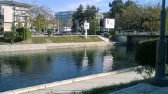 Crn Drim River and Sunny Autumn Day