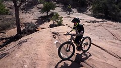 Mountain biking the Porcupine Rim Trail with Max, 30 second video edit