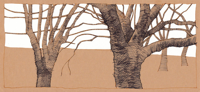 Jewellery Quarter Trees 2 - with paper-cutting