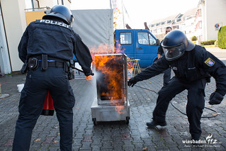Brandschutzunterweisung für Polizeikräfte Hattersheim 18.10.17