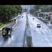 雨降る香港の街