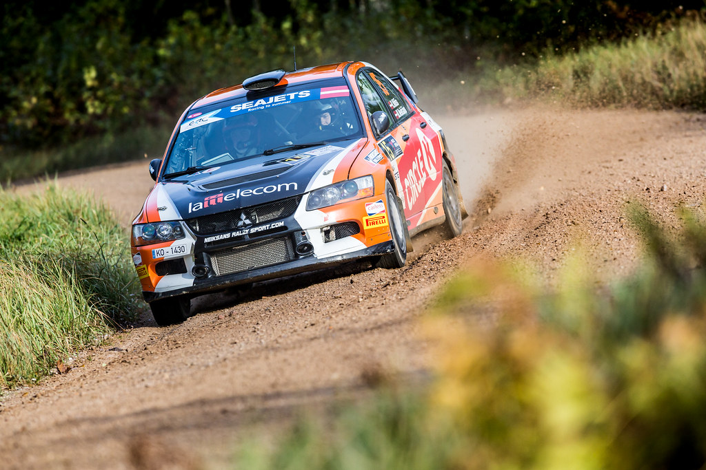 15 Nitiss Reinis and Neiksans Maris, Mitsubishi Lancer Evo IX action during the 2017 European Rally Championship ERC Liepaja rally,  from october 6 to 8, at Liepaja, Lettonie - Photo Thomas Fenetre / DPPI