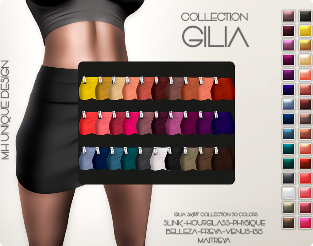 MH-Gilia Skirt-Collection 30 COLORS - TeleportHub.com Live!