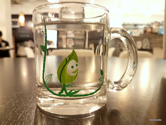 Green Grotto Tea Room water glass
