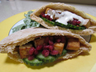 Tofu Pomegranate Pockets