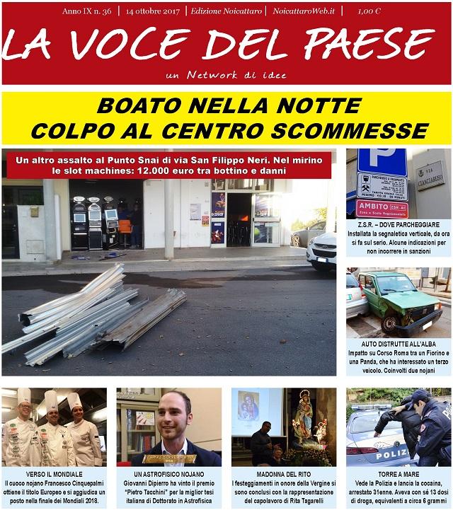 Noicattaro. Prima pagina n. 36-2017 intero