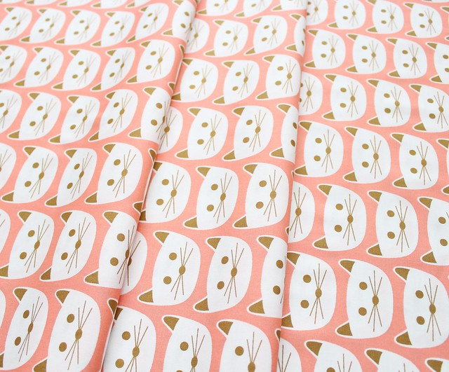Art Gallery Fabrics Blush Cat Nap Pink