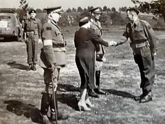 Brigadier TJ Rutherford w/ King George VI and Queen Elizabeth