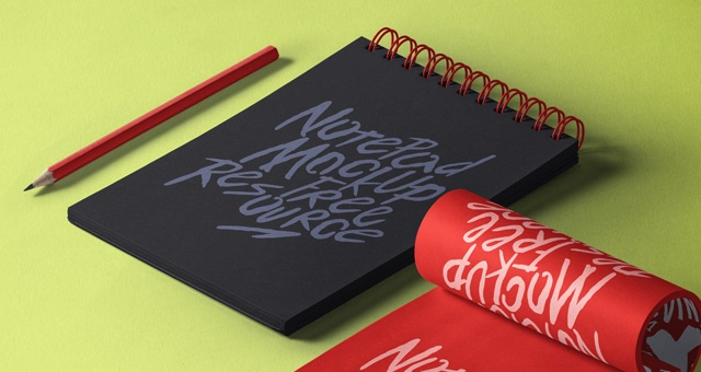 Notepads with Pencil Mockup 2