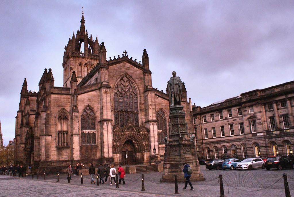 Cathédrale Saint Giles dans l'Old town d'Edimbourg.