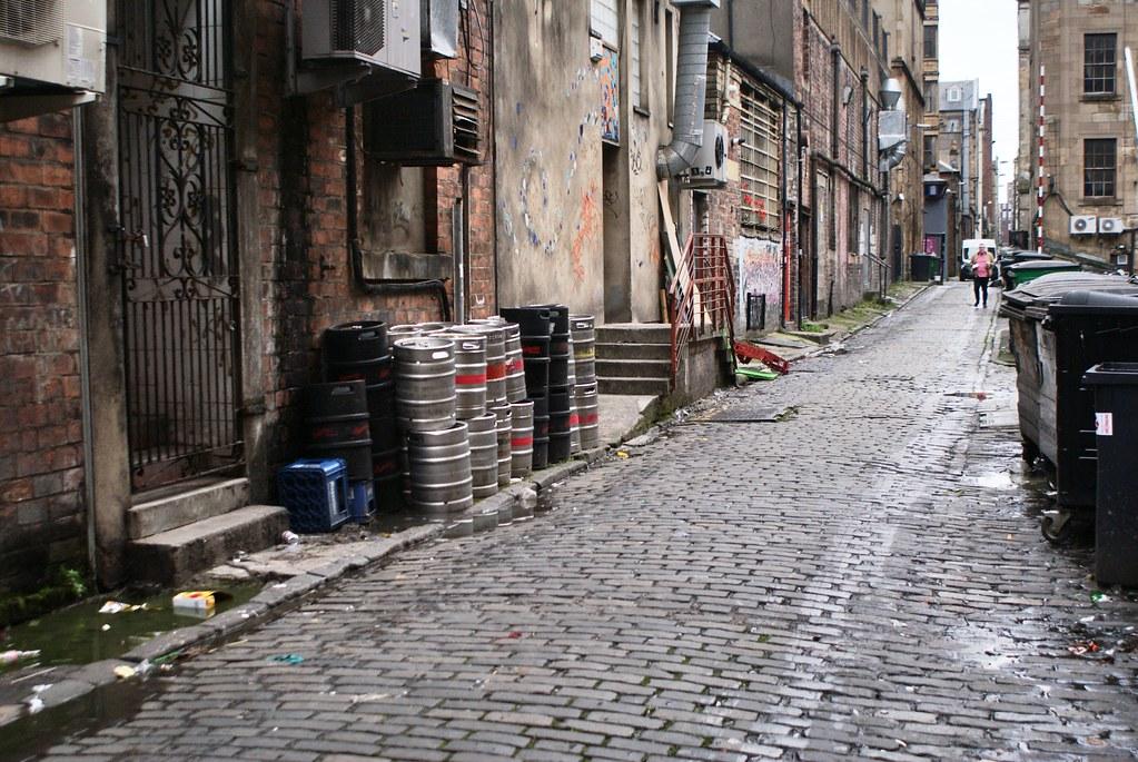 Ruelle du centre ville de Glasgow.