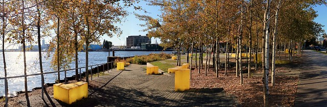 Autumn at Erie Street Plaza (Panorama)