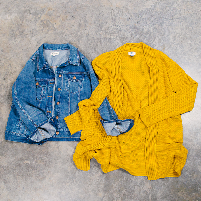 colorful fall capsule outerwear
