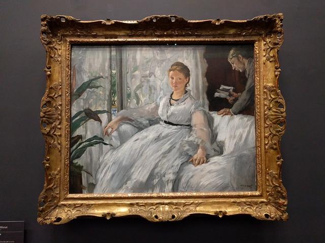 """""""La Lecture"""" by Manet"""