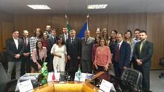 Delegações do Brasil e da República Tcheca ao final da primeira rodada de negociações para o acordo bilateral de previdência.27.out