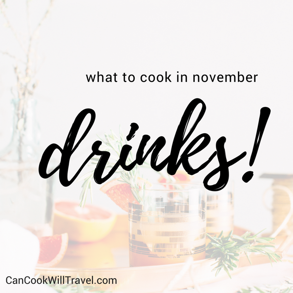 What to Cook in November - Drinks