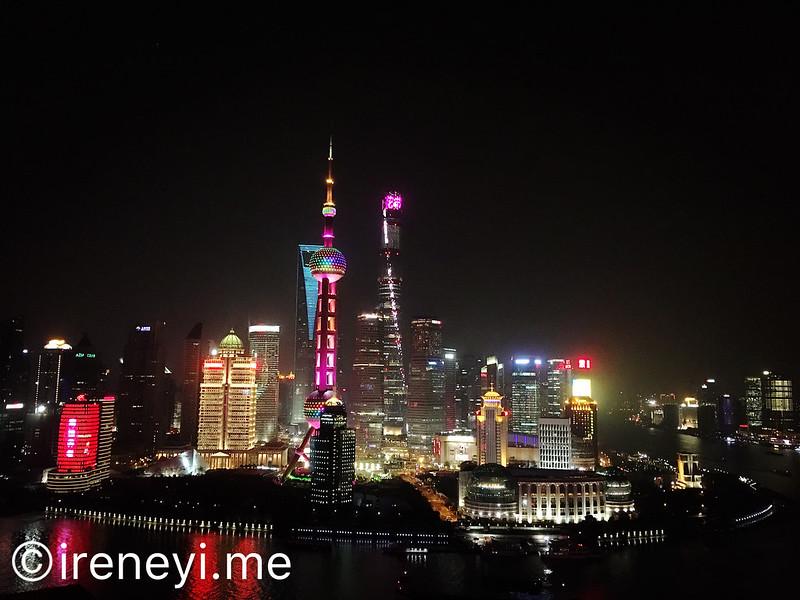上海東方明珠陸家嘴夜景