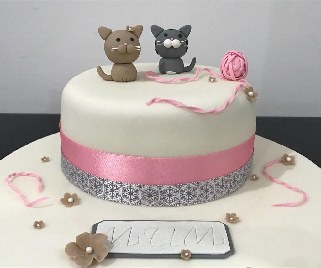 Cat Themed Birthday Cake X