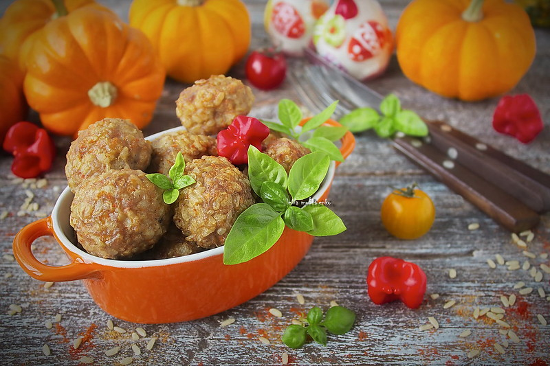...meat balls with rice and pumpkin