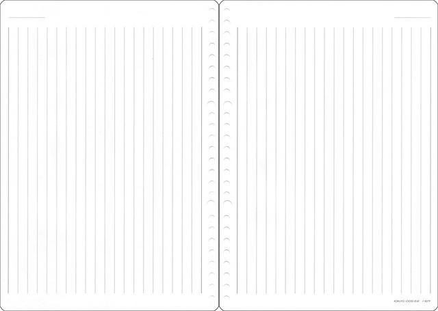 KOKUYO コクヨ ルーズリーフ ノート さらさら書ける 縦罫 8mm ノ-837P 4901480072067