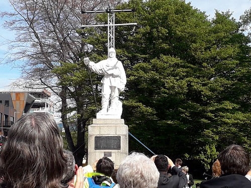 Robert Falcon Scott statue unveiling