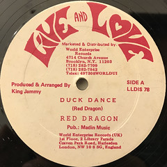 RED DRAGON:DUCK DANCE(LABEL SIDE-A)