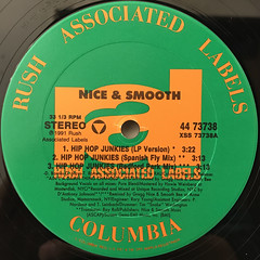NICE & SMOOTH:HIP HOP JUNKIES(LABEL SIDE-A)