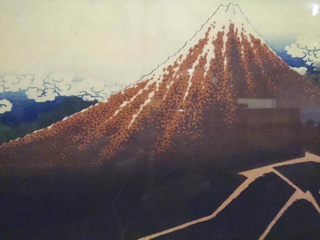 葛飾北斎《富嶽三十六景山下白雨》(1830-33年頃、大英博物館)