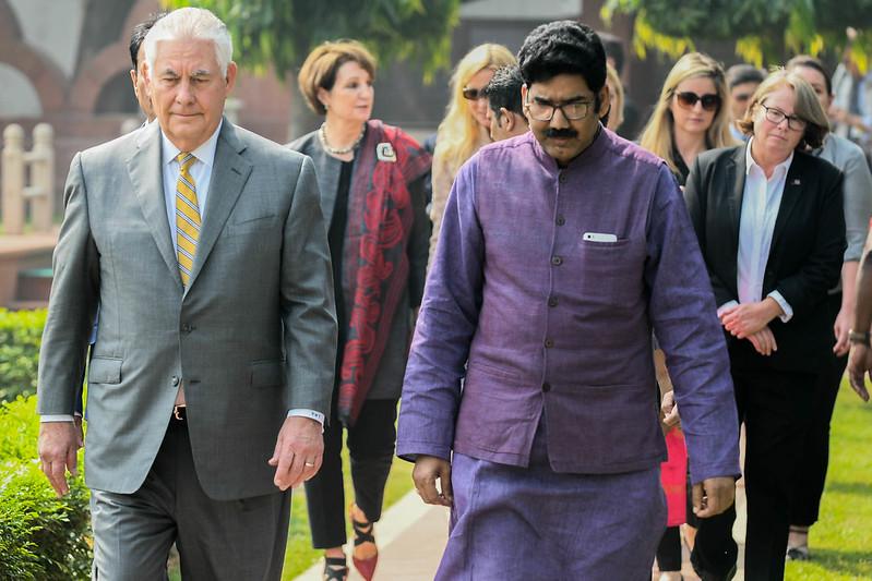 Secretary Tillerson Pays Respects to Mahatma Gandhi at Gandhi Smriti