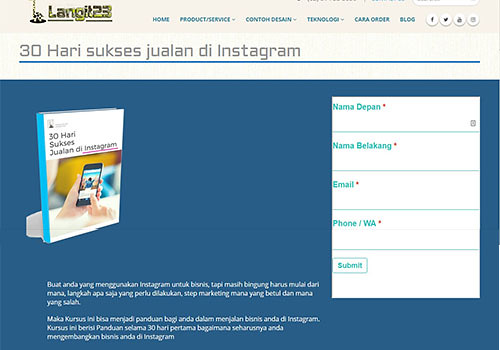 contoh landing page