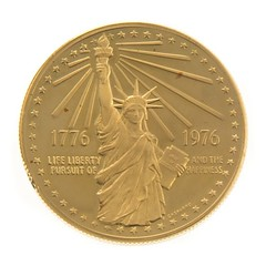 1976 Gold Bicentennial Medal obverse