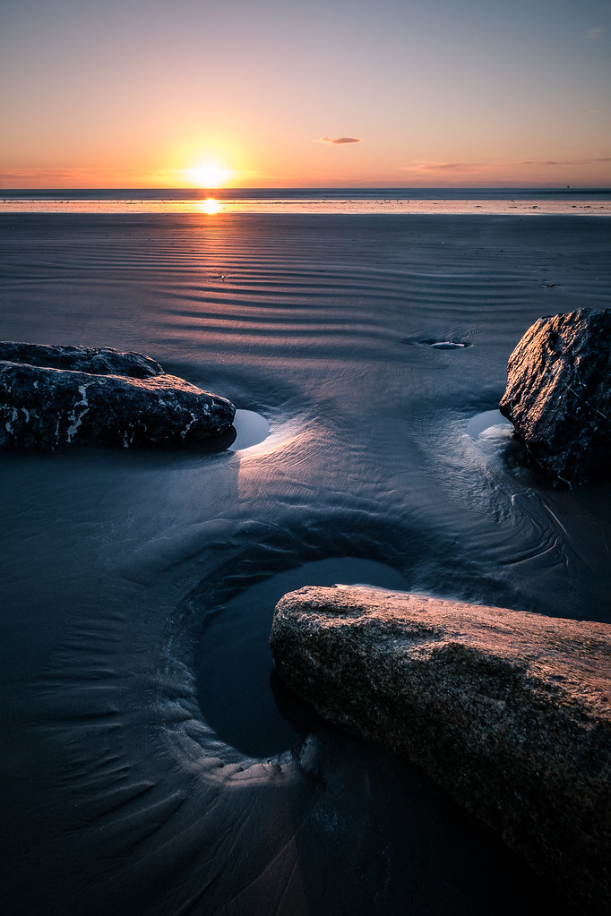 Sunrise in Bull Island - Dublin, Ireland - Seascape photography