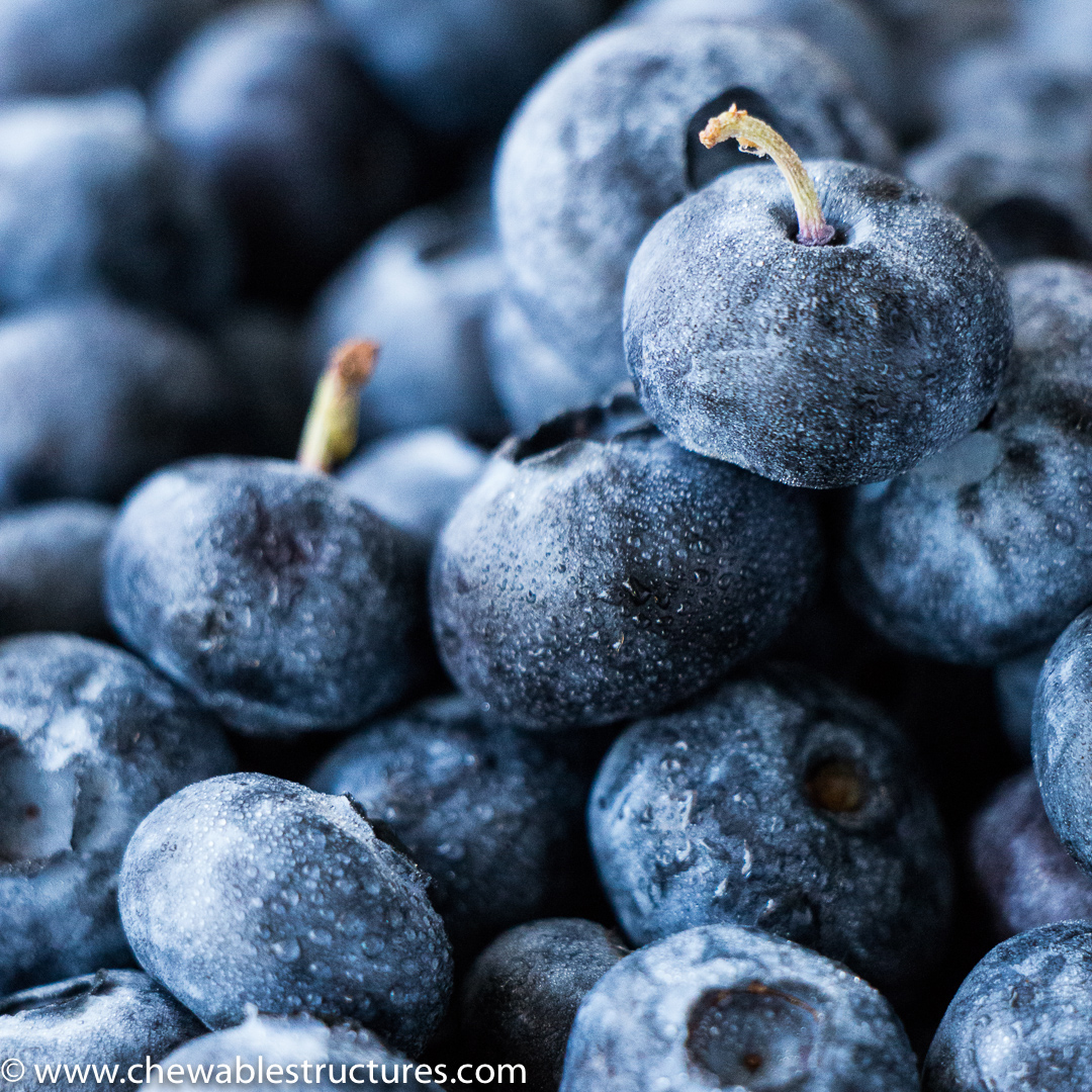 How to make Eiffel Tower Using Fresh Blueberries