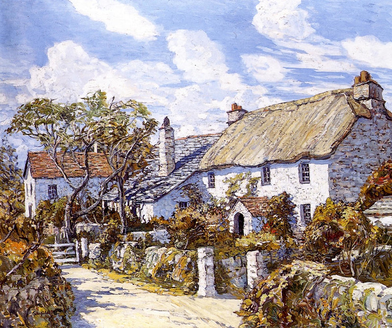 Autumn in Cornwall by Walter Elmer Schofield (1869 - 1944)