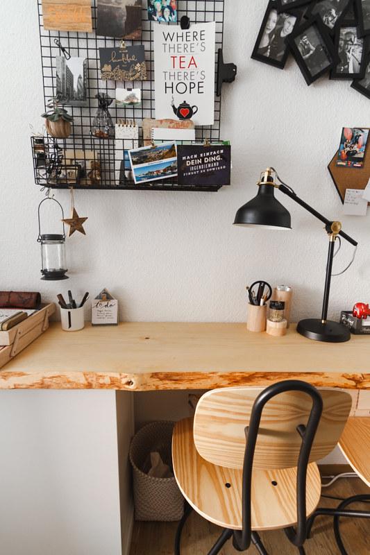 Schreibtisch aus Holz Pinnwand Schreibtisch-Holzzubehör