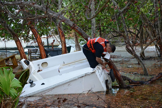 Coast Guard crews assess vessels displaced by Hurricane Irma