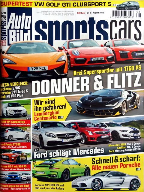 Auto Bild Sportscars 8/2016