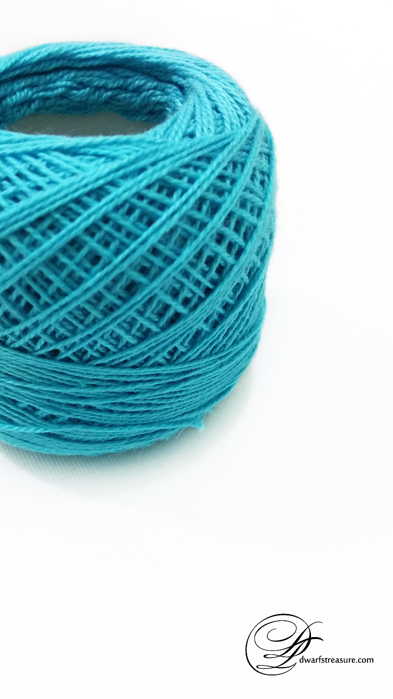 blue cozy cotton yarn ball for crocheting