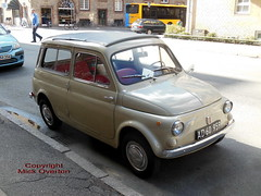 rare Fiat 500 AD60959 still on the roads of Copenhagen