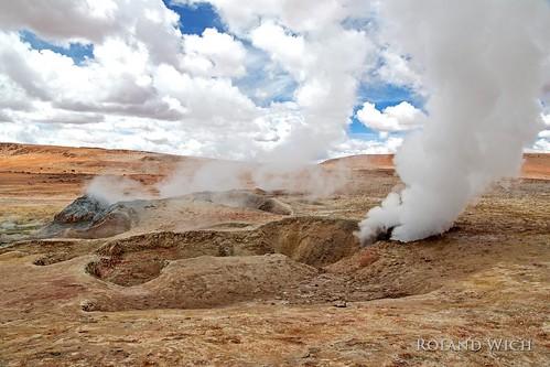 south america bolivia bolivien bolivie altiplano geyser field geysir geysirfeld sol de manana