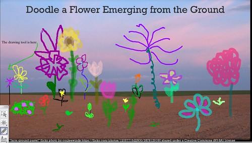 CLMOOC/Emergence Flowers