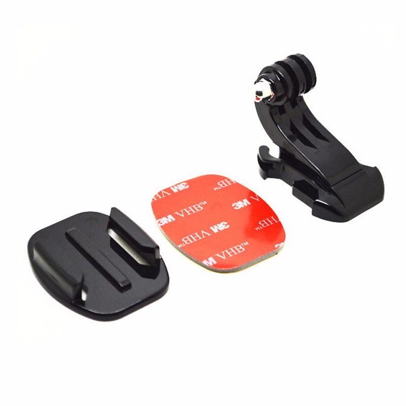 Bộ J-Hook mount và dán nón bảo hiểm tròn keo 3M cho GoPro Hero