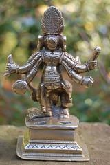 Hindu Goddess Durga Mahishasuramardini (back view)