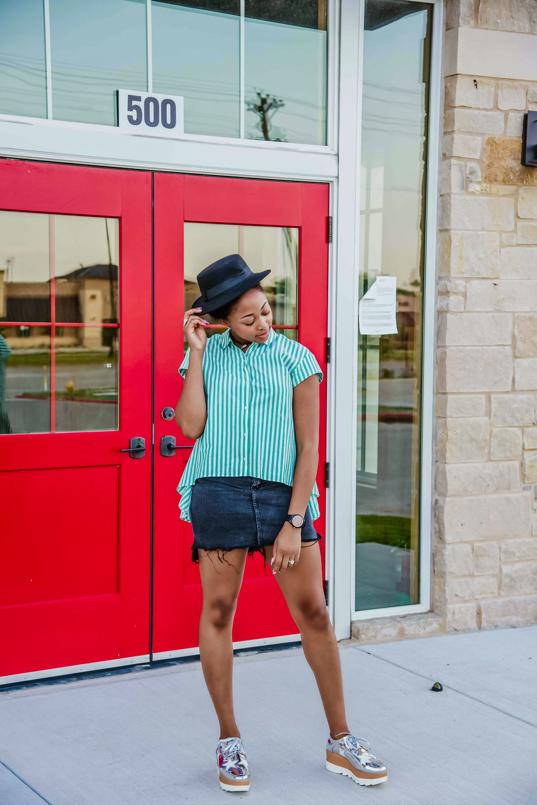 how to style a step hem skirt