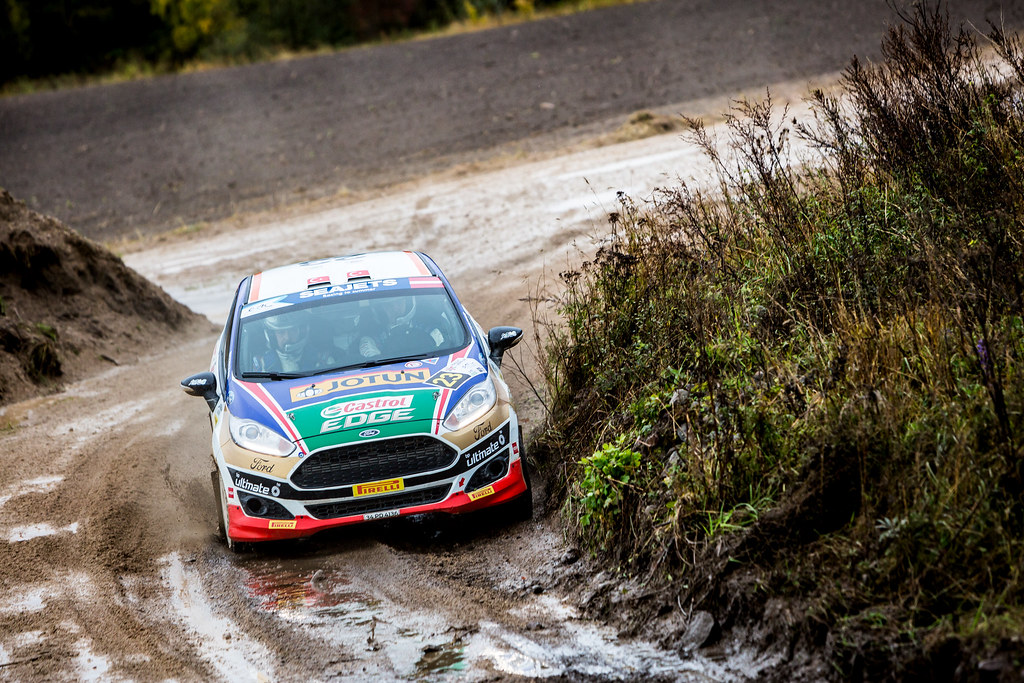 23 Ozdemir Umit Can and Memisyazici Batuhan, Castrol Ford Team Turkiye, Ford Fiesta R2T action during the 2017 European Rally Championship ERC Liepaja rally,  from october 6 to 8, at Liepaja, Lettonie - Photo Thomas Fenetre / DPPI