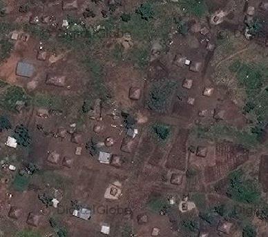 Uganda satellite image