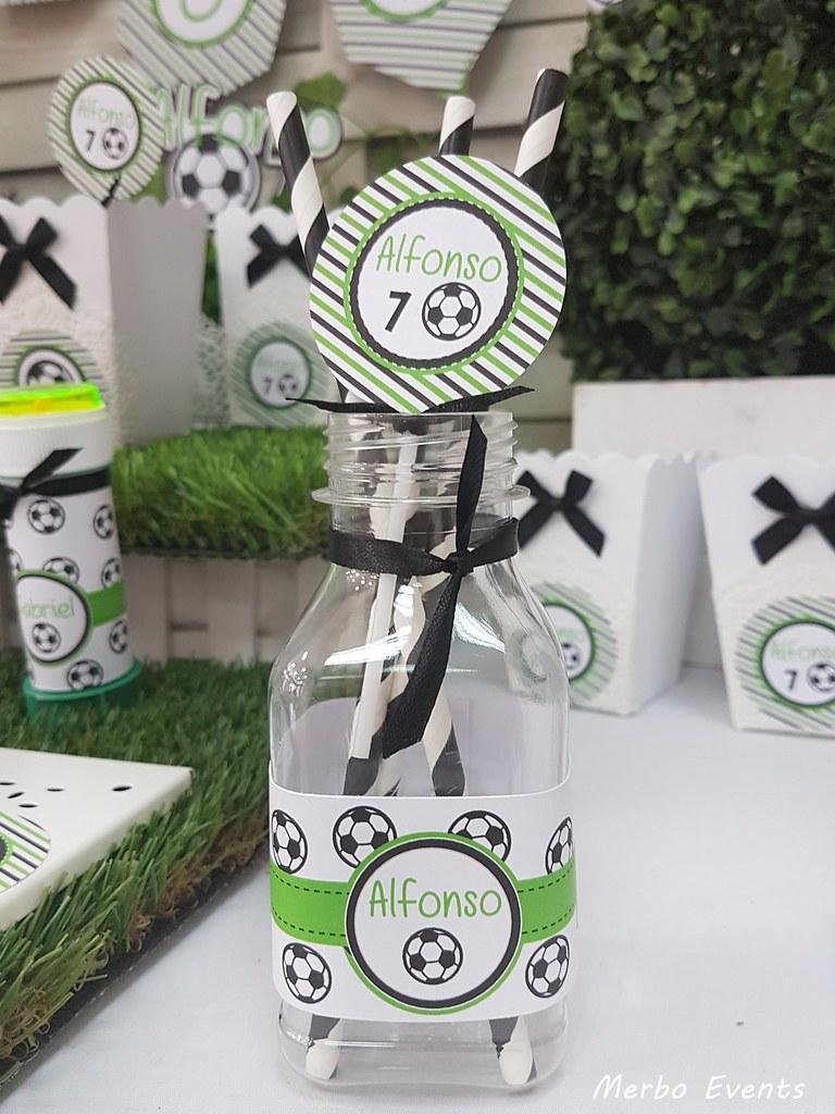 fajines botellitas fiesta cumpleaños futbol Merbo Events